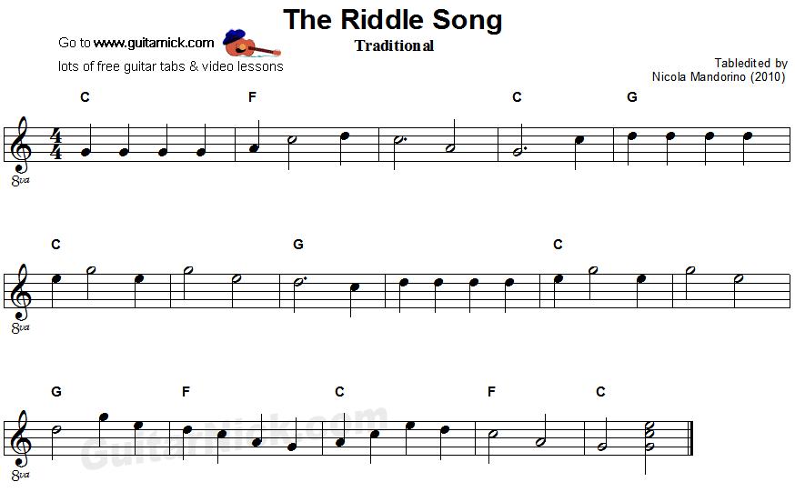 Nhạc nước ngoài, nhạc dân ca nước ngoài hay: Riddle Song